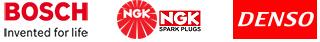 логотипы производителей авто-свечей — бош, нгк, денсо