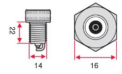 Размеры Свеча зажигания NGK Standard BKR6EKUC