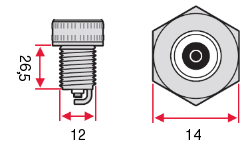 Размеры Свеча зажигания Denso Iridium SC16HR11