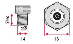 Размеры Свеча зажигания Denso Iridium SK20HR11